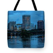 Richmond Skyline At Nightfall 11908t Tote Bag