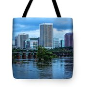 Richmond Skyline In Early Night 11888 Tote Bag
