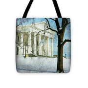 Richmond Virginia Capitol In Snow Tote Bag