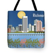 Richmond Virginia Horizontal Skyline Tote Bag