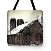 Rickety Old Barn Tote Bag by Stephanie Calhoun