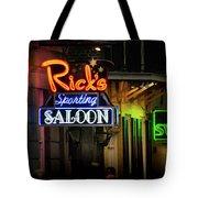 Ricks Sporting Saloon Tote Bag