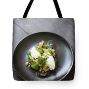 Ricotta And Salad With Herbs On Rye Bread Tote Bag