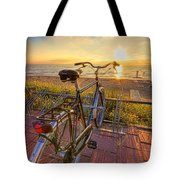 Ride Off Into The Sunset Tote Bag