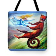 Ride The Tail Tote Bag