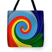 Ride The Wave - Colorful Digital Design Tote Bag