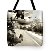 Ride To Live Tote Bag by Micah May