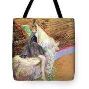 Rider On A White Horse Tote Bag by Henri de Toulouse Lautrec