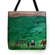 Riders In The Andes Tote Bag