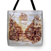 Riders In The Sky Tote Bag