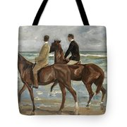 Riders On The Beach Tote Bag