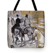 Riders On The Way To The Bois Du Bolougne Tote Bag