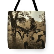 Rides His Horse 3 Tote Bag