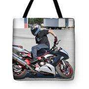 Riding Backwards Tote Bag