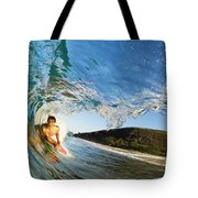 Riding Barrel At Makena Tote Bag