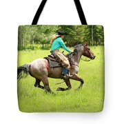 Riding Fast  Tote Bag
