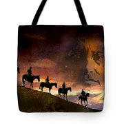 Riding Into Eternity Tote Bag