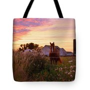 Riding Off Into The Sunset Tote Bag