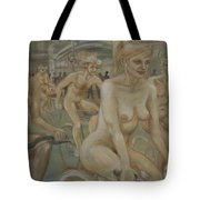 Riding Passed Burlington Arcade In June Tote Bag