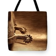 Riding Spurs Tote Bag