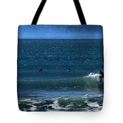 Riding The Crest Tote Bag