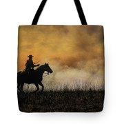 Riding The Fire Line Tote Bag