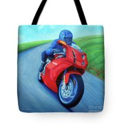 Riding The Highlands - Ducati 999 Tote Bag