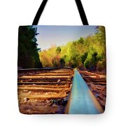 Riding The Rail Tote Bag