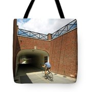 Riding The Rail Trail In Carmel, Indiana Tote Bag