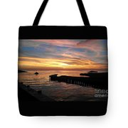 Riding The Sunset Tote Bag