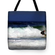 Riding The Waves At Asilomar State Beach Four Tote Bag