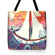 Riding The Waves In Bubbles Of Joy Tote Bag