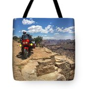 Riding The Wedge Overlook Tote Bag