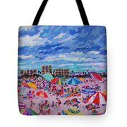 Right Panel Of Triptych Busy Relaxing Tote Bag
