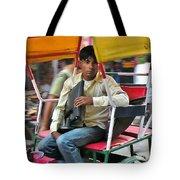 Rikshaw Rider - New Delhi India Tote Bag