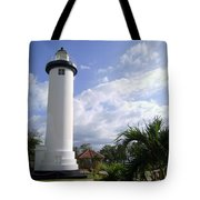 Rincon Puerto Rico Lighthouse Tote Bag by Adam Johnson