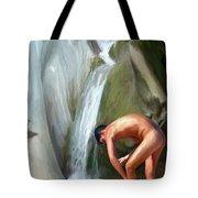 Rinsing Off Tote Bag