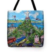 Rio De Fe, Futebol E Fantasia Tote Bag