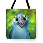 Rio Parrot Illustration Tote Bag
