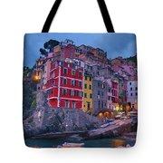 Riomaggiore In Cinque Terre Italy Painterly Tote Bag