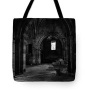 Rioseco Abandoned Abbey Naves Bw Tote Bag