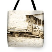 Rip Old Truck In Field Tote Bag