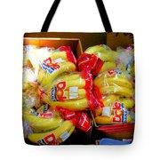 Ripe Bananas In A Box At The Store Tote Bag