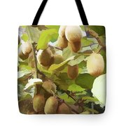 Ripe Kiwi Fruit On The Branch Tote Bag