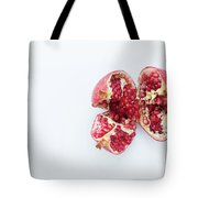 Ripe Pomegranate Fruit On A White Background Tote Bag