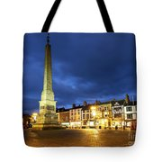 Ripon Market Place At Dusk Tote Bag