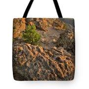 Ripple Boulders At Sunset In Bentonite Quarry Tote Bag
