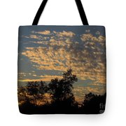 Ripple Clouds At Sunset Tote Bag