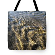 Rippled Gold Tote Bag