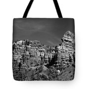 Rippled Walls B-w Tote Bag
